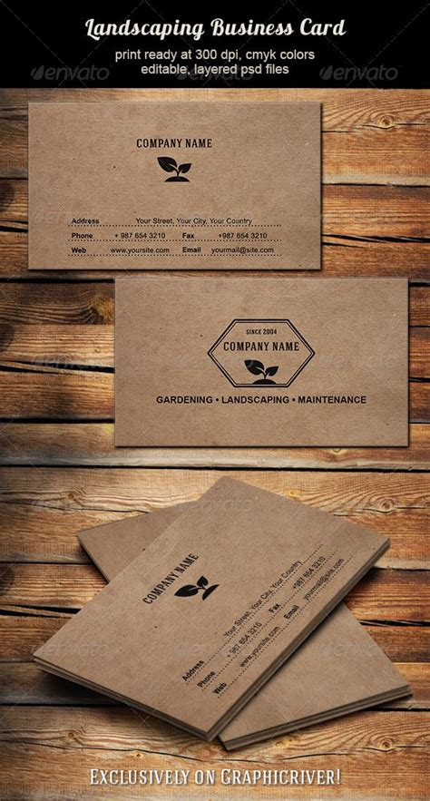 graphicriver lawn service business card template landscaping business card lawn maintenance business