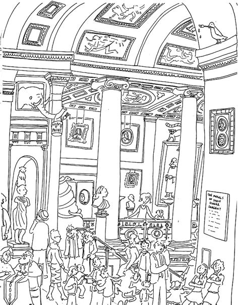 The Museum Coloring Pages at the museum coloring pages az coloring pages
