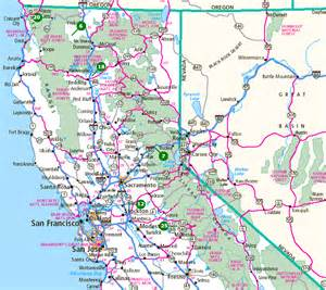 california map northern california