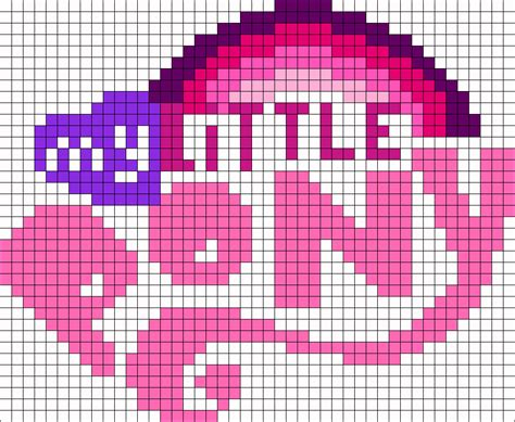 my pony perler bead patterns my pony logo perler bead pattern bead sprites