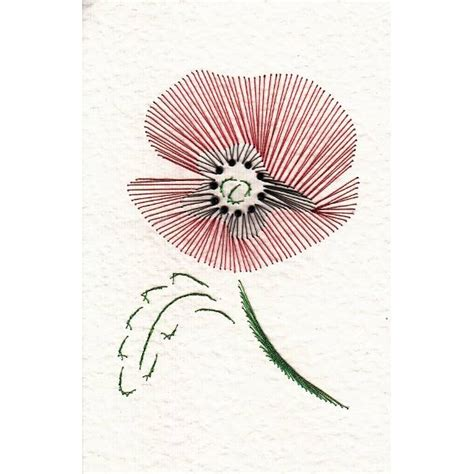 Embroidery Templates Free by Paper Embroidery Patterns Templates 132 Poppy