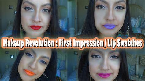 Original 100 Makeup Revolution Iconic Matte Lipstick makeup revolution matte lip lacquers impression