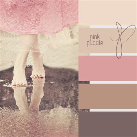 pink and brown color scheme pink puddle color chart bathroom or bedroom colors