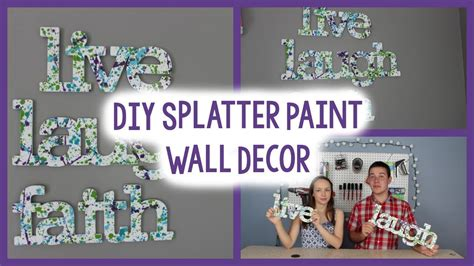 Paint Splatter Decorations by Diy Splatter Paint Wall A Craft In Your Day