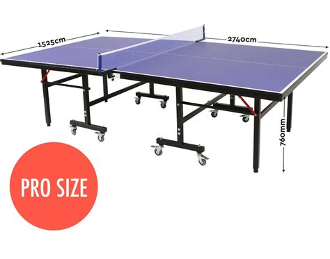 table tennis ping pong table pro size 19mm top ittf