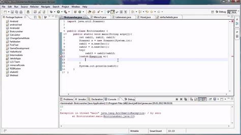 tutorial java try catch java tutorial 43 ausnahmebehandlung mit try und catch