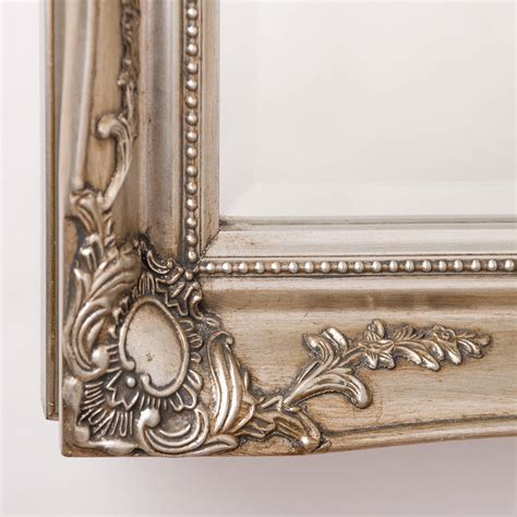 Handcrafted Mirrors - vintage ornate mirror antique silver by crafted