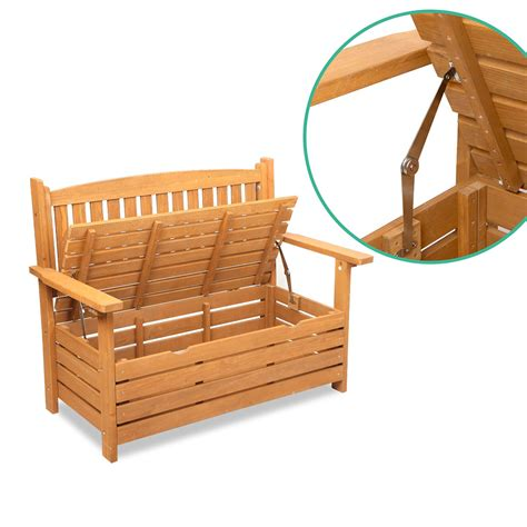 outdoor wooden bench with storage buy wooden outdoor storage bench online at ikoala com au