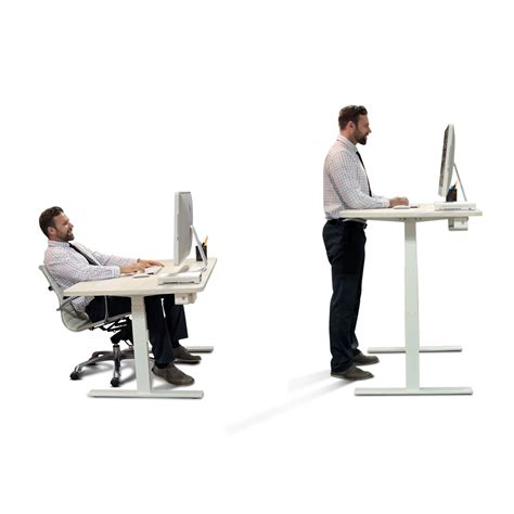 Sit Standing Desk Autonomous Desk A1 A Premium Standing Desk In White With Automatic Height Adjustable Sit To