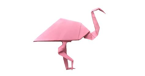 How To Make A Flamingo Out Of Paper - pretty in pink an origami flamingo origami expressions