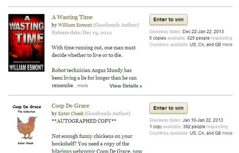 Goodreads Giveaways How To Win - the problem with goodreads book giveaways adverse selection the official bookbuzzr
