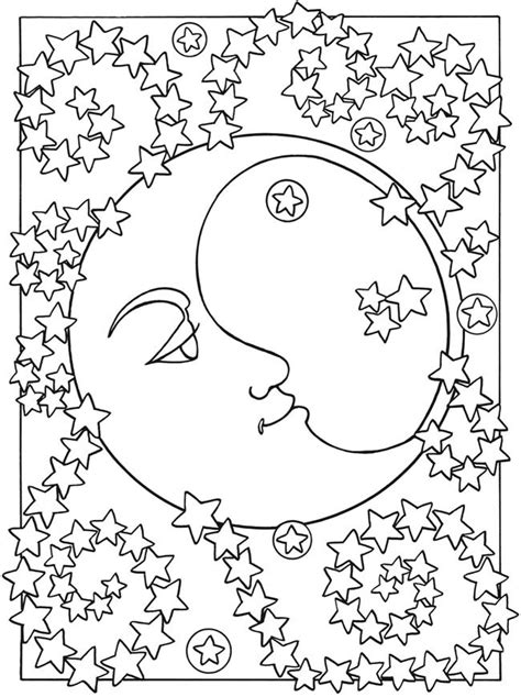 coloring pages of sun moon stars sun moon and stars doodles coloring pages pinterest