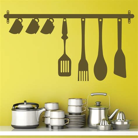 kitchen utensils wall sticker food drink wall decal