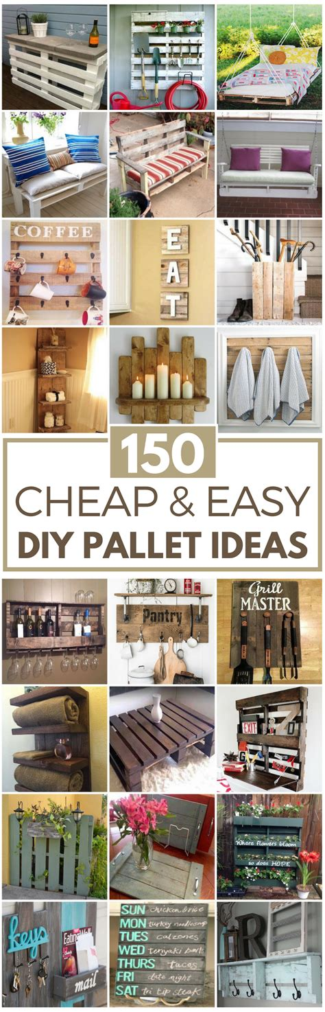 Cheap Yard Decorations 150 Cheap Amp Easy Pallet Projects Prudent Penny Pincher