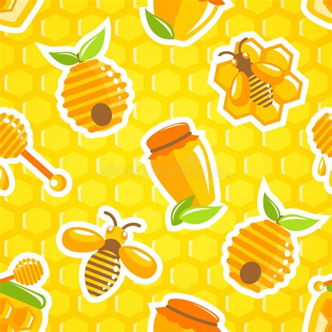 honey pattern vector honey seamless pattern stock vector image of dessert