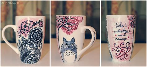 How To Decorate A Coffee Mug Sharpie Mug By Ananyaarts On Deviantart