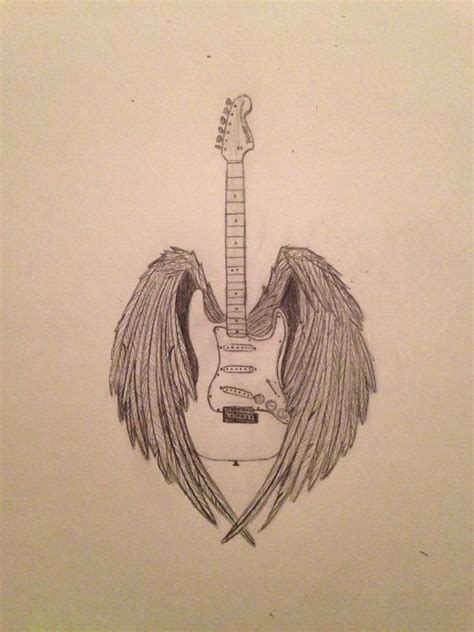 fender tattoos designs fender guitar and eagle wings tattooos