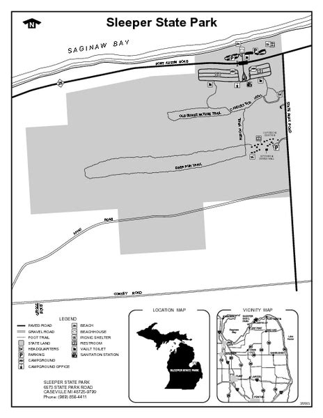 Sleeper State Park Cing by Sleeper State Park Michigan Site Map Sleeper State Park