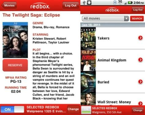 redbox app for android redbox now has an app for android updated app for iphone
