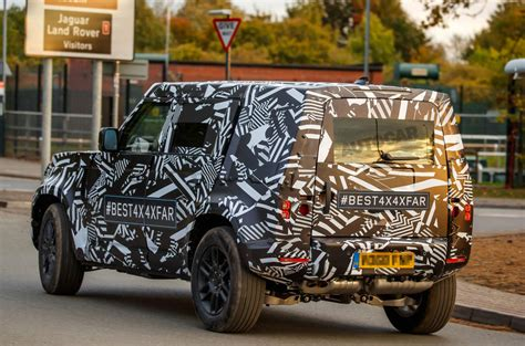 land rover defender 2020 2020 land rover defender spied testing on roads