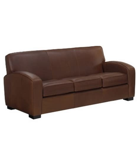 Italian Leather 3 Cushion Contemporary Sofa Bed W Queen