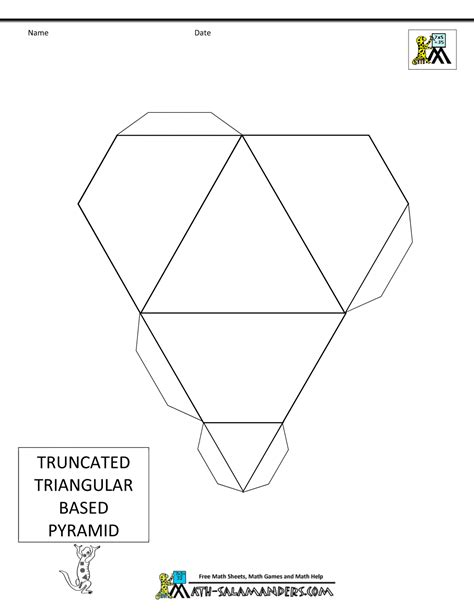 How To Make A 3d Triangular Pyramid Out Of Paper - paper models for nets