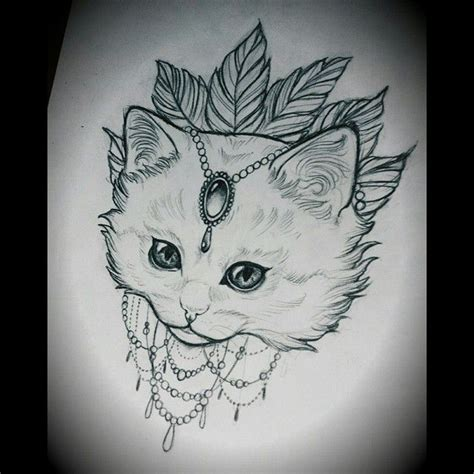 tattoo cat drawing 25 best images about art nouveau on pinterest tattoo