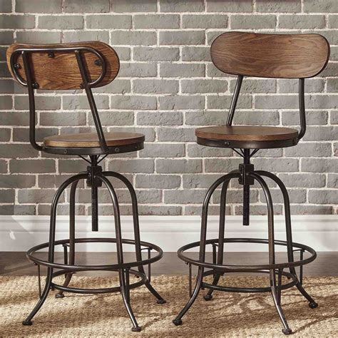 industrial counter height stools berwick iron industrial adjustable counter height high
