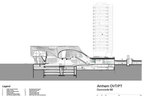 Underground Parking Section by Gallery Of Arnhem Central Transfer Terminal Unstudio 22