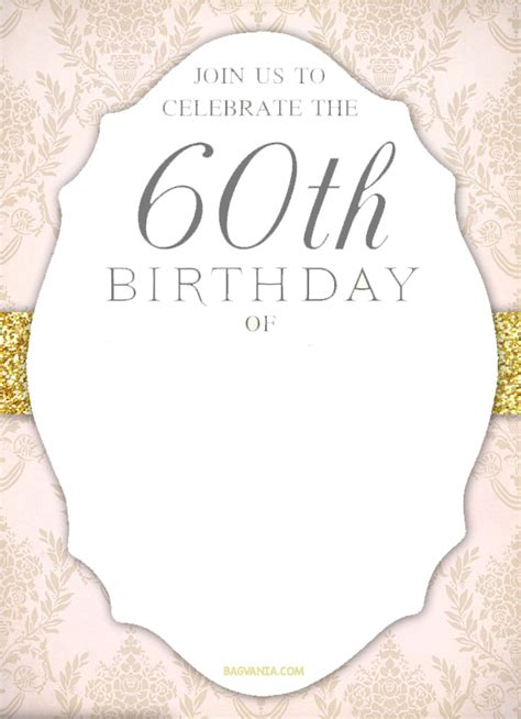 free printable 60th birthday invitations templates free printable 60th birthday invitation templates drevio