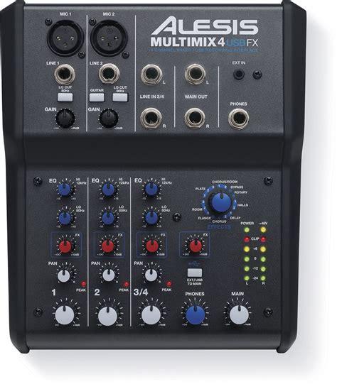 Mixer Audio Alesis alesis multimix 4 usb fx pa mixer audio interface pssl