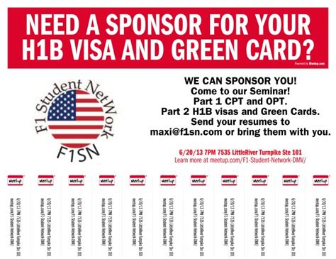 Will I Get H1b Visa If I Do Mba by Do You Need A Sponsor For Your H1b Visa And Green Card