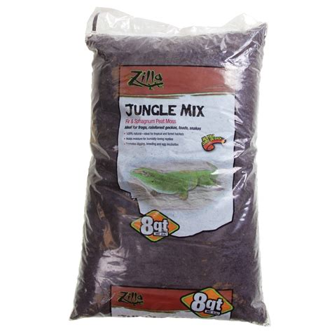 reptile bedding zilla jungle mix premium reptile bedding