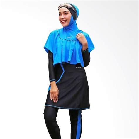 Baju Hitam Biru Heboh jual sporte baju renang muslimah hitam biru sr 11 harga kualitas terjamin