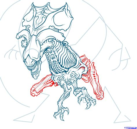 xenomorph tattoo design by havocschion drawing how to draw a queen alien queen xenomorph step by step