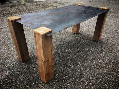 Table Bois Pied Metal 1223 by Table Bois Pied Metal Table Plateau En Bois Et Pieds En M