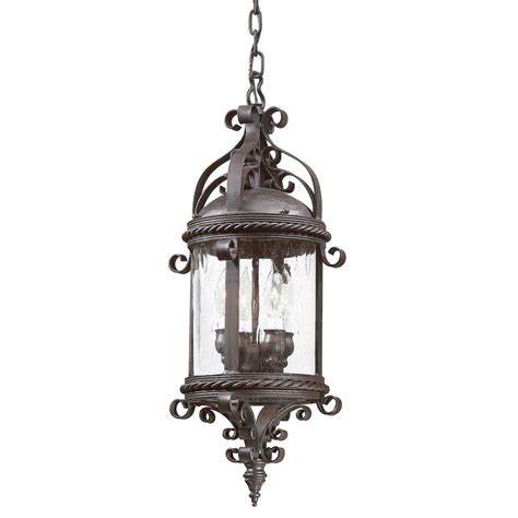 Troy Lighting Plona 4 Light Old Bronze Outdoor Pendant Exterior Lighting Pendants