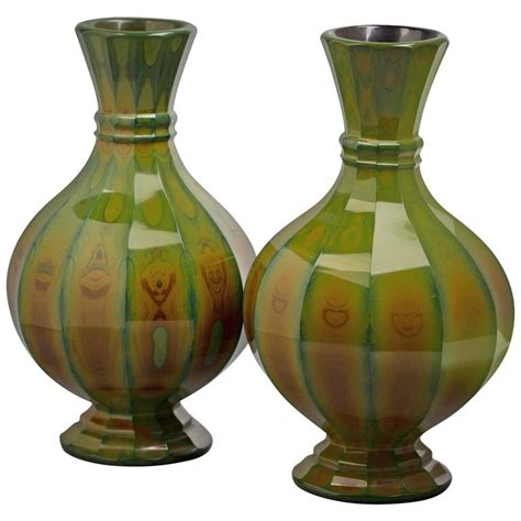 Bohemian Vases by Pair Of Bohemian Lithyalin Glass Vases Circa 1820 For