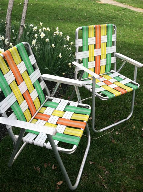 Retro Patio Chair Reserved Listing For D Retro Folding Lawn Chairs Set Of 2