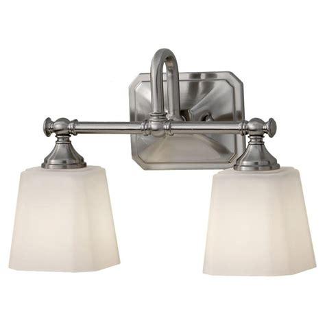feiss payne 2 light brushed steel vanity light vs48002 bs