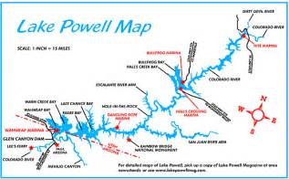 map of lake powell arizona page lake powell guide page lake powell area maps