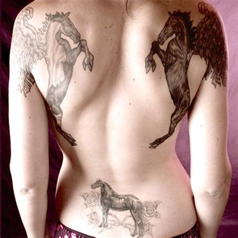 tattoo back pieces female horses tattoo design for female back piece sheplanet