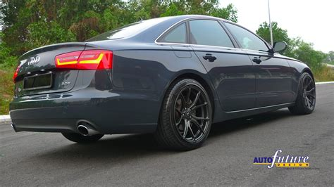 audi a6 in hybrid audi a6 hybrid equipped with vorsteiner v ff 103 s
