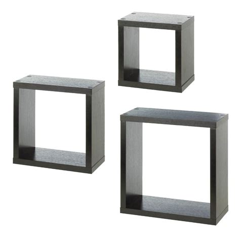 wholesale floating wall shelves set of 3 square wall