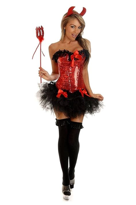 sequin pin  devil costume sexy halloween costumes