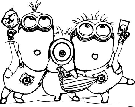 minions kevin coloring pages the harajuku minion coloring page play color