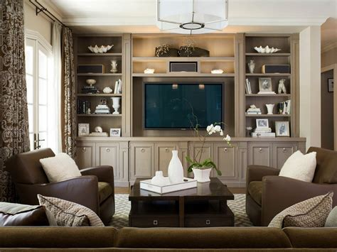 family room design ideas decorating the entertainment corner with built in wall