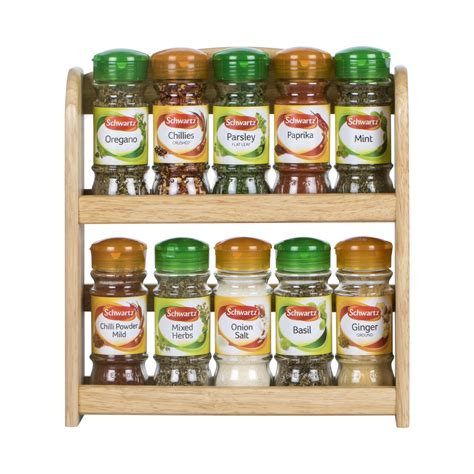 Apollo Spice Rack apollo filled rubberwood tier spice rack