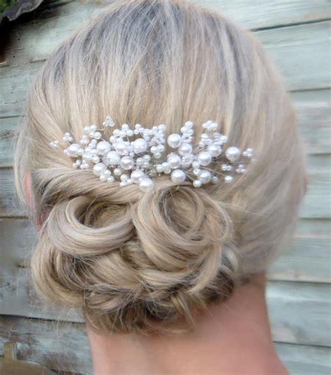 wedding hair with gypsophila hair gypsophila beaded hair comb 2553282 weddbook