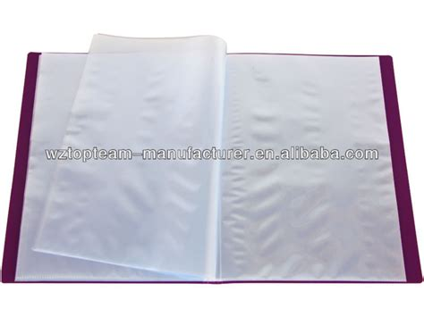 book folder refill clear book display pocket pp clear book file folder